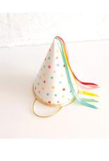 Fancy Little Day Chapeau de fête pointus petites étoiles ruban arc-en-ciel