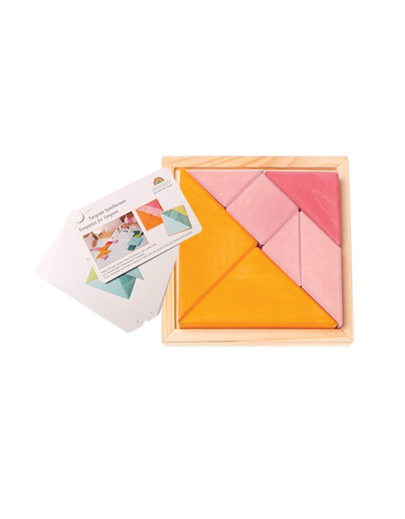 Grimm's Tangram Puzzle Orange And Pink