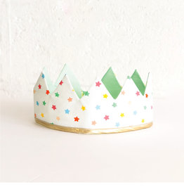 Fancy Little Day Mint  Multicolored Mini Stars Crown