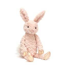 Jelly Cat Peluche - Lapin rose fourrure