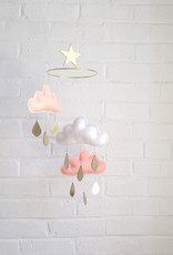 The Butter Flying Baby Mobile Clouds & Raindrops - Claire