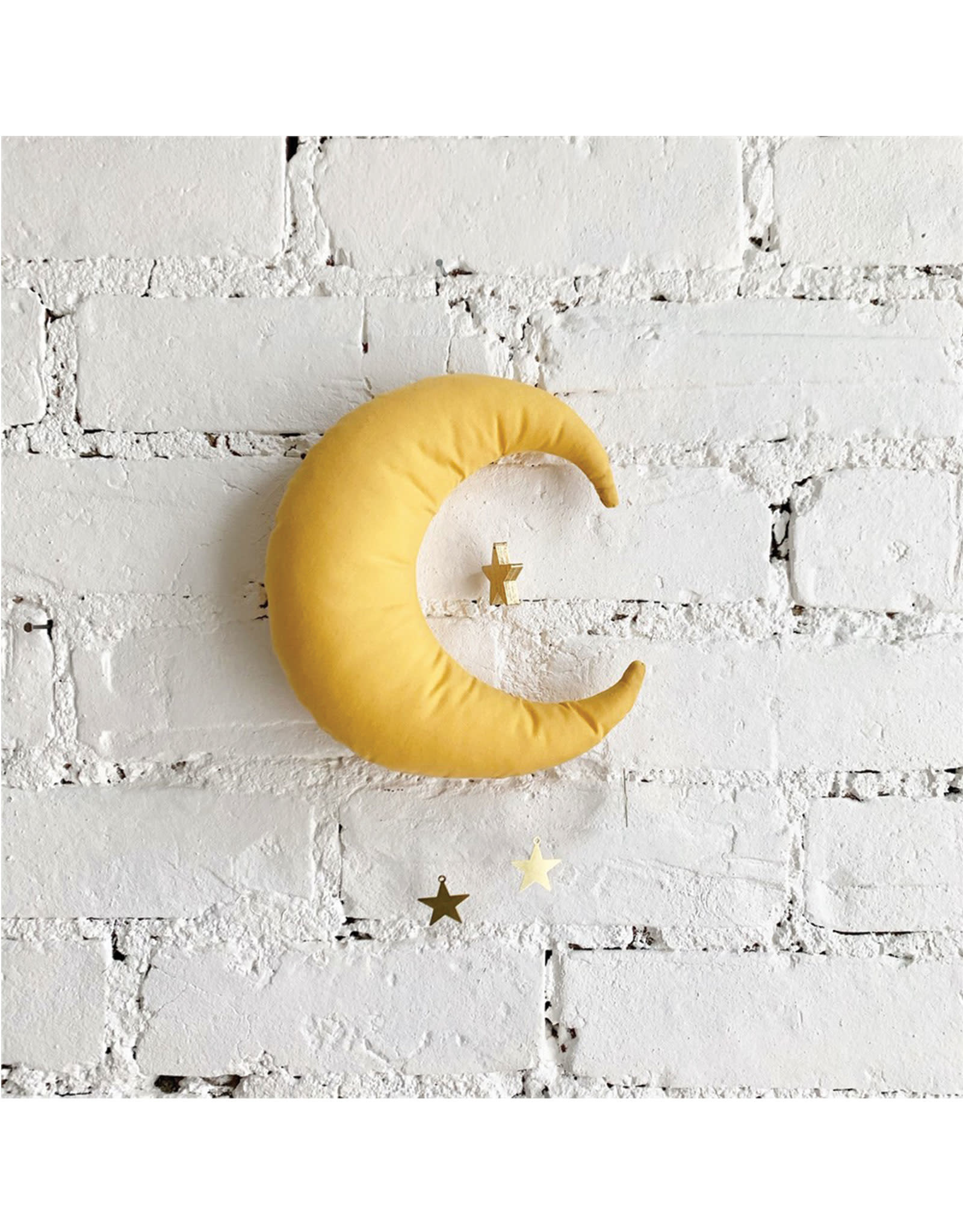 The Butter Flying Moon Mobile - Mustard