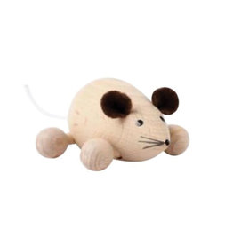 Sarah and Bendrix Natural Small Wooden Mouse