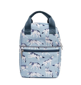 Petit Monkey Backpack - Wolves Blue