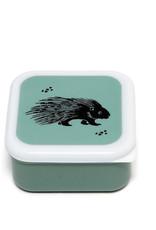 Petit Monkey Snackbox Set -  Black Animals Sage