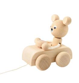 Sarah and Bendrix Jouet à tirer - Hugo l'ours en voiture