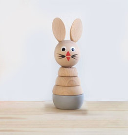 Sarah and Bendrix Stacking Toy - Grey Bunny