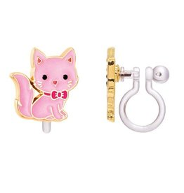 Girl Nation Clip-On Earring - Pink cat
