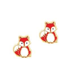 Girl Nation Enamel Studs Earrings - Fox