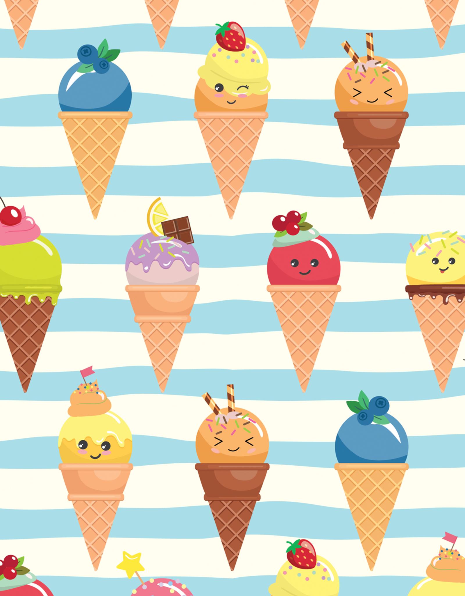 Olé Hop Couverture minky - Crème glacée