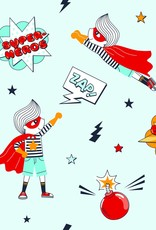 Olé Hop Bamboo Muslin - Super Heros