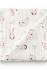Olé Hop Bamboo Muslin - Dream Rabbits