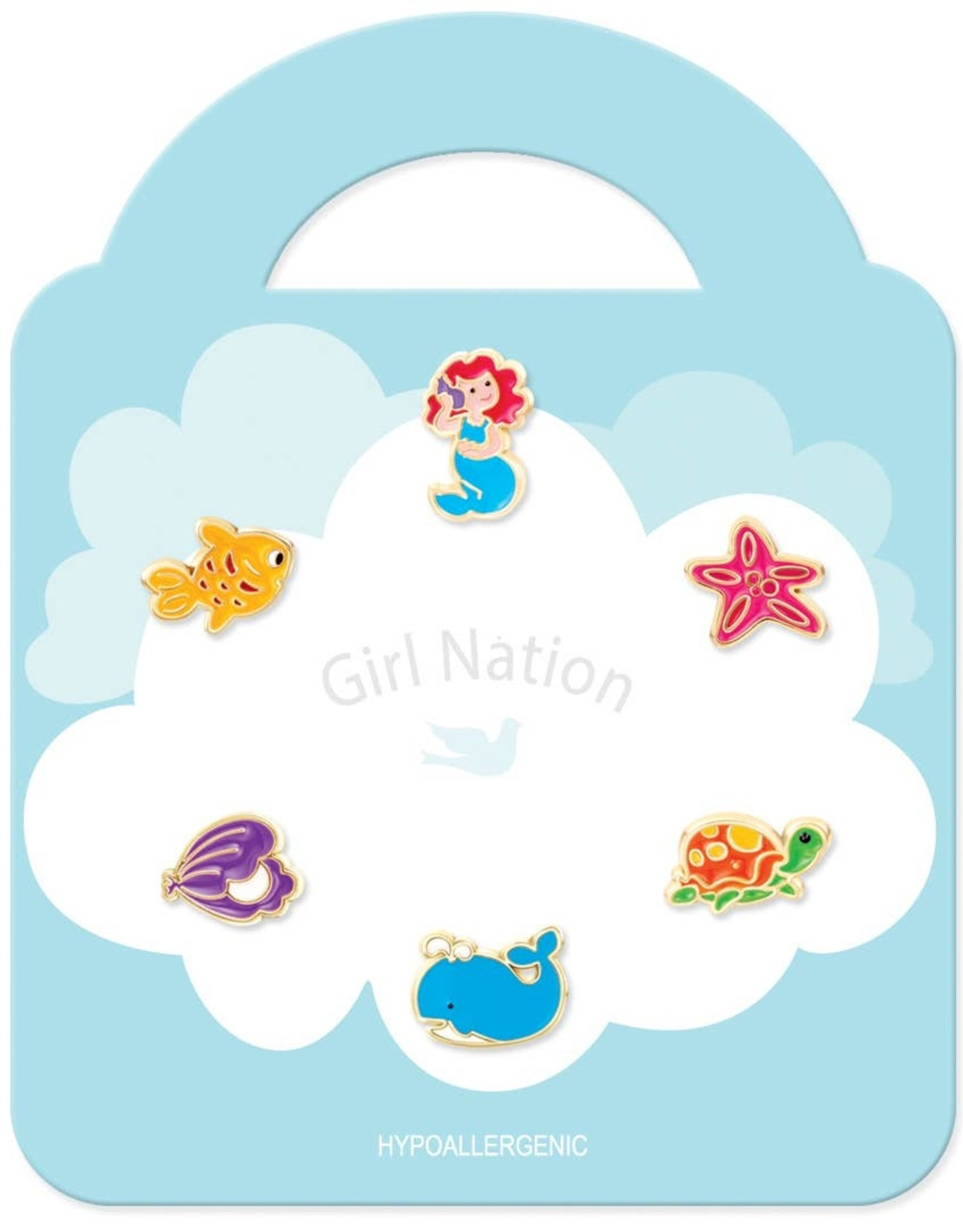 Girl Nation Mix it up - 6 mix and match enamel earrings - Mermaid