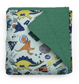 Olé Hop Minky Blanket - Astro Dinos