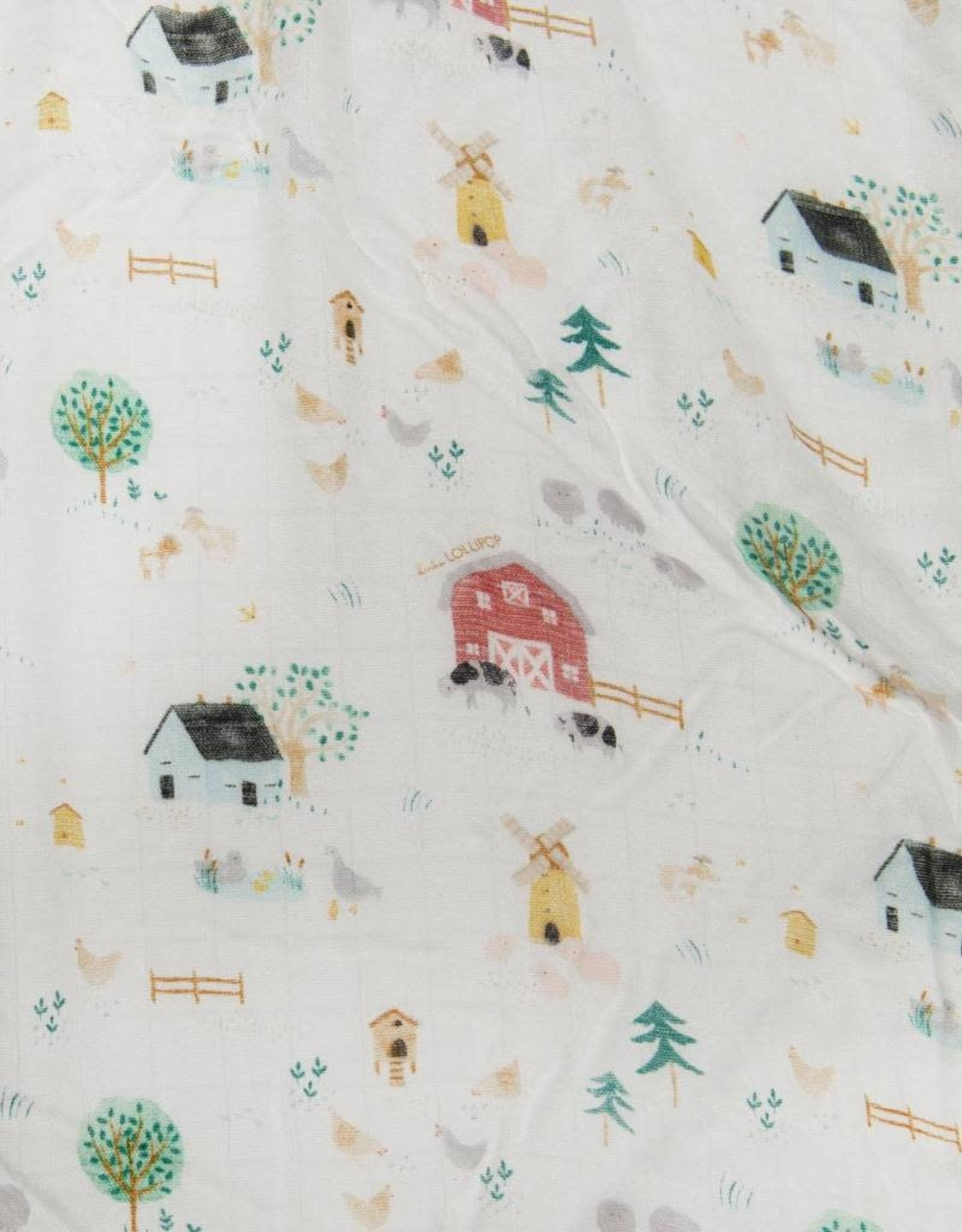 Loulou Lollipop Fitted Crib Sheet - Farm