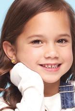 Girl Nation Boucles d'oreilles en émail - Beigne au chocolat