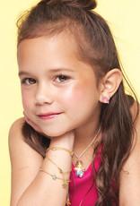 Girl Nation Enamel Studs Earrings - Milkshake
