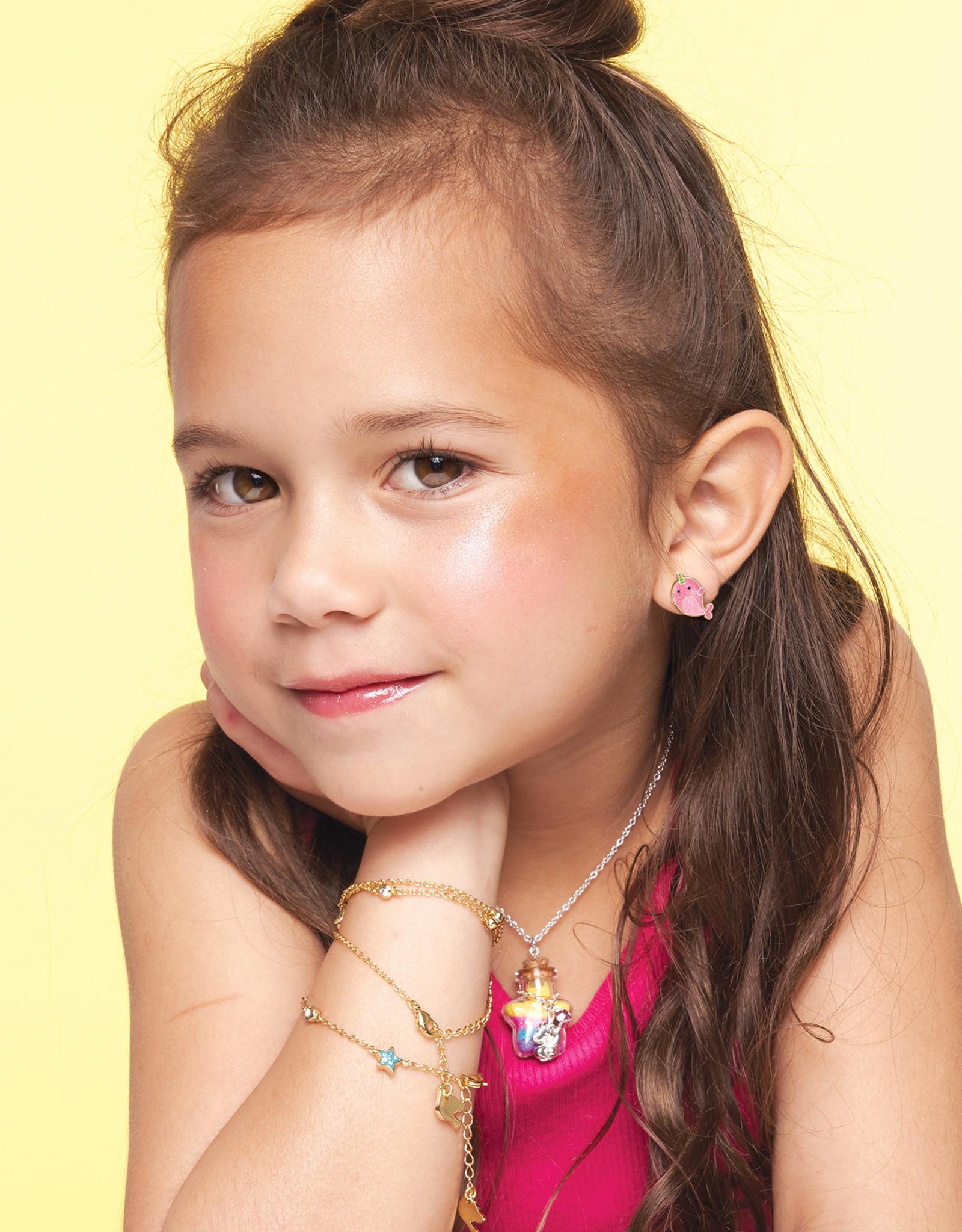 Girl Nation Boucles d'oreilles en émail - Lait frappé