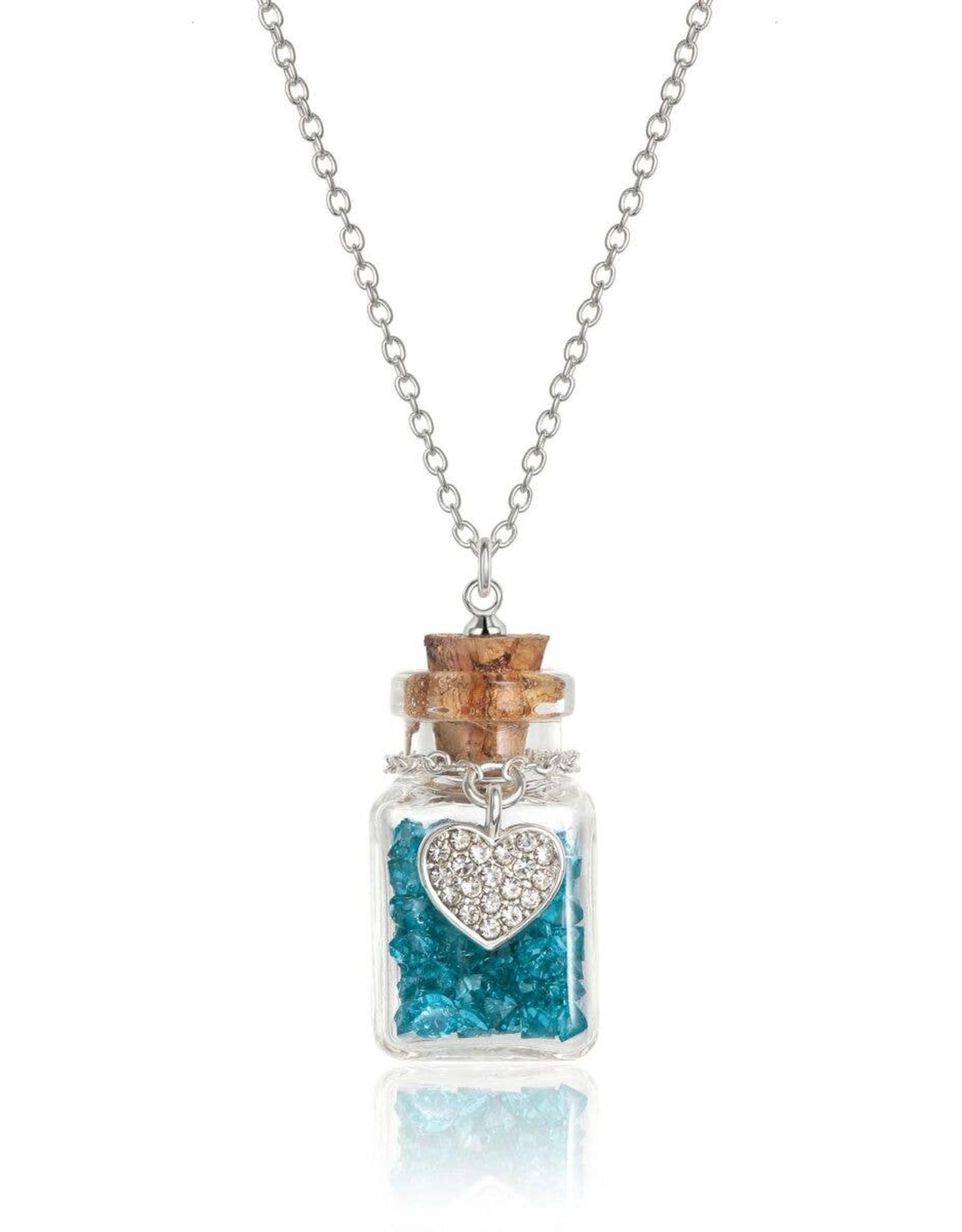 Girl Nation Birthstone Bottle Gems Necklace - December