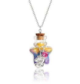 Girl Nation Collier Magie en bouteille - Licorne