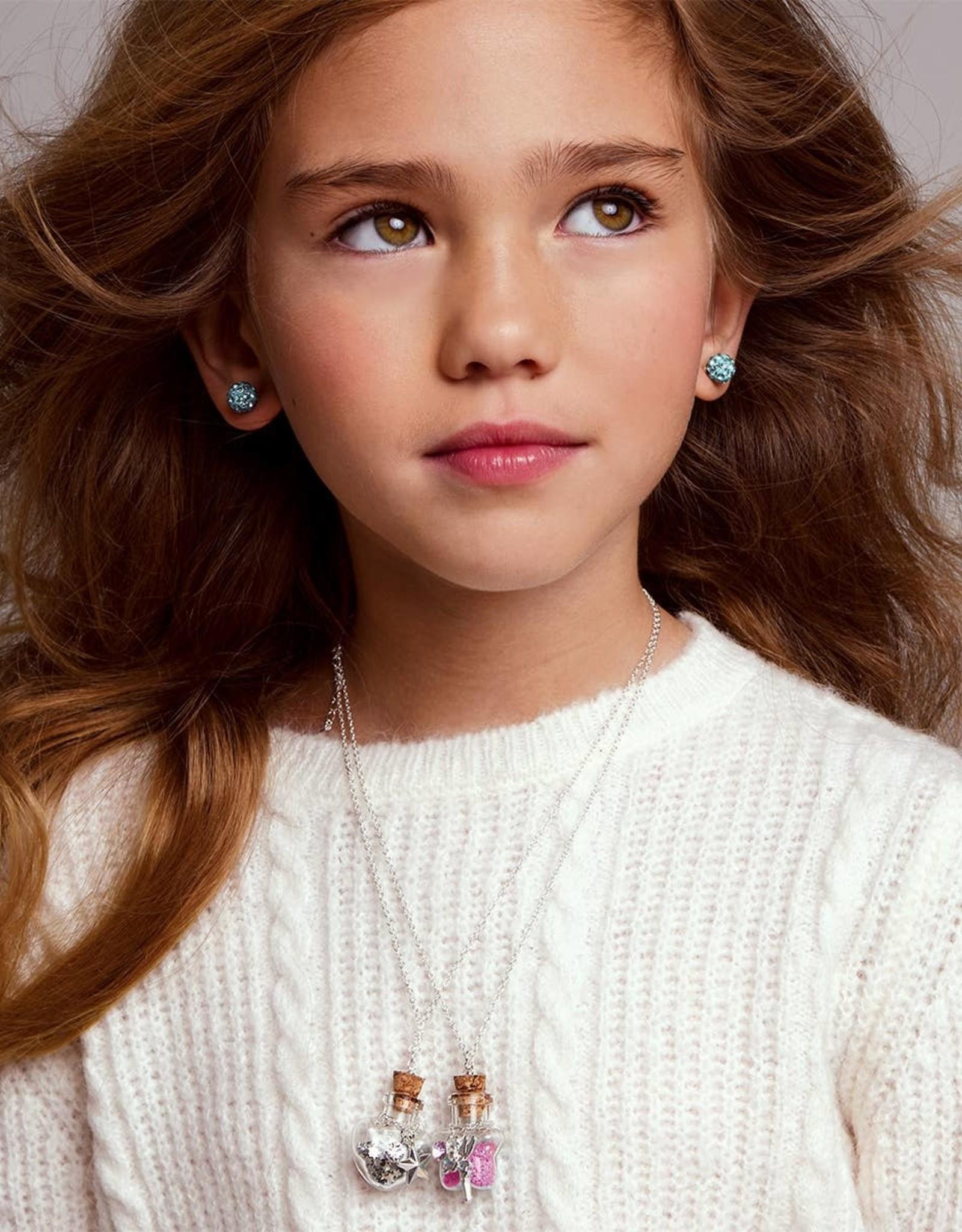 Girl Nation Birthstone Bottle Gems Necklace - August