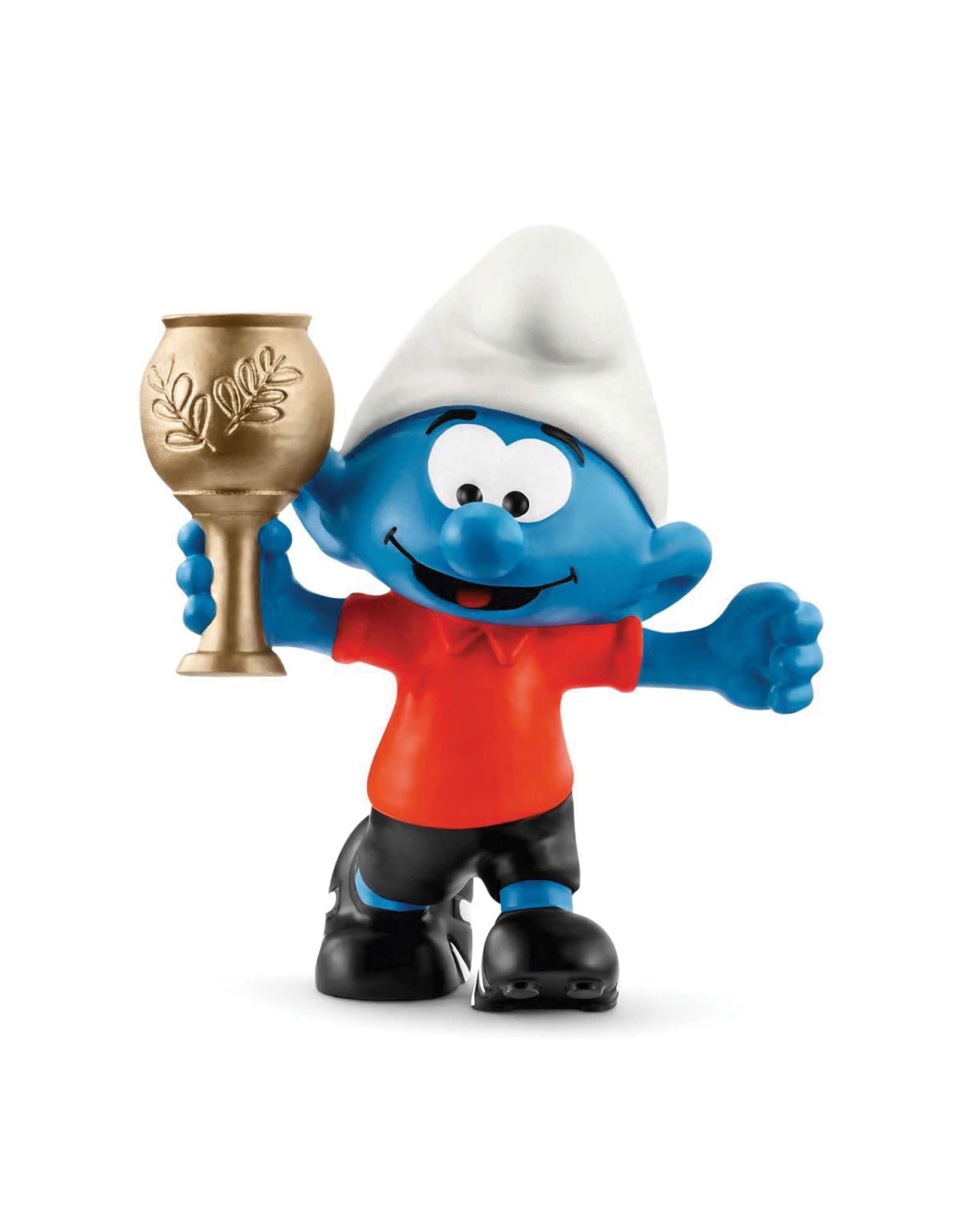 Schleich Smurf - With Football Trophy
