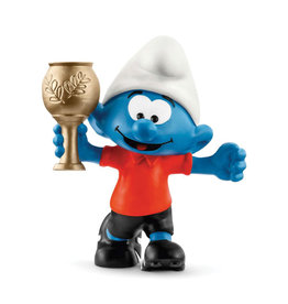 Schleich Smurf - With Football Trophy