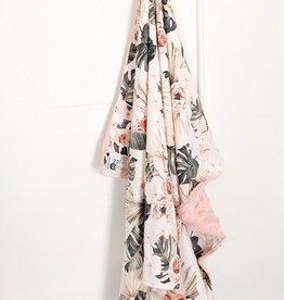 Les Petits Ziboo Couverture - Fleur rose et grise