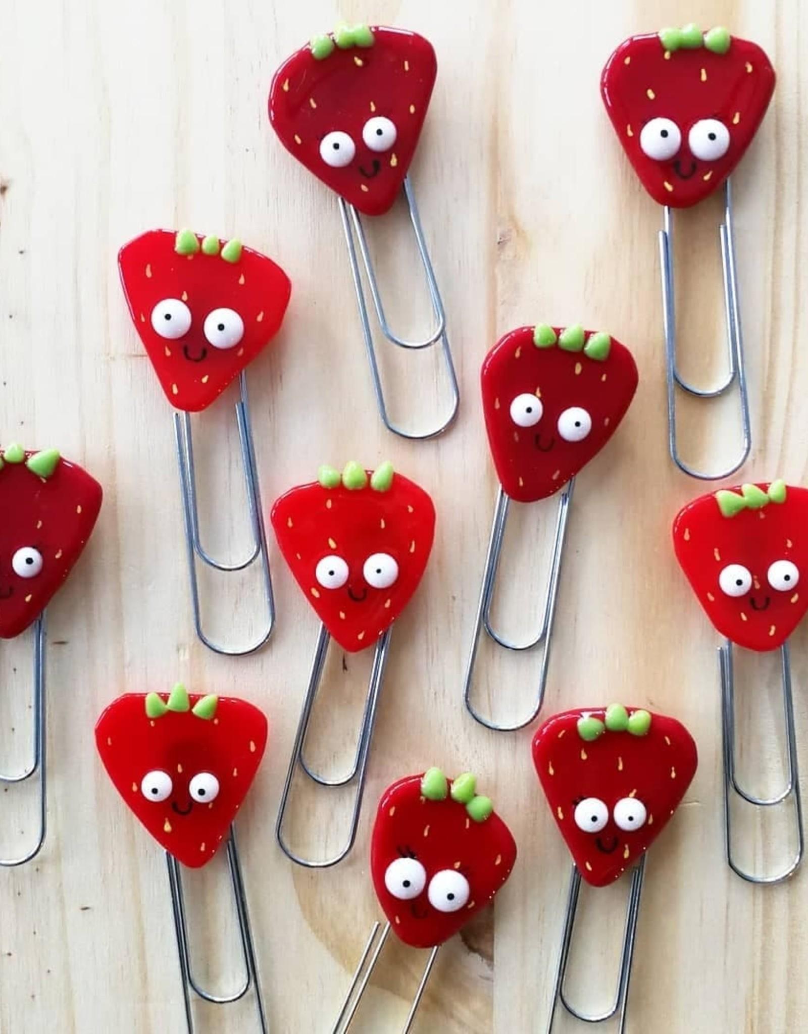 Veille sur toi Giant paper clip - Strawberry