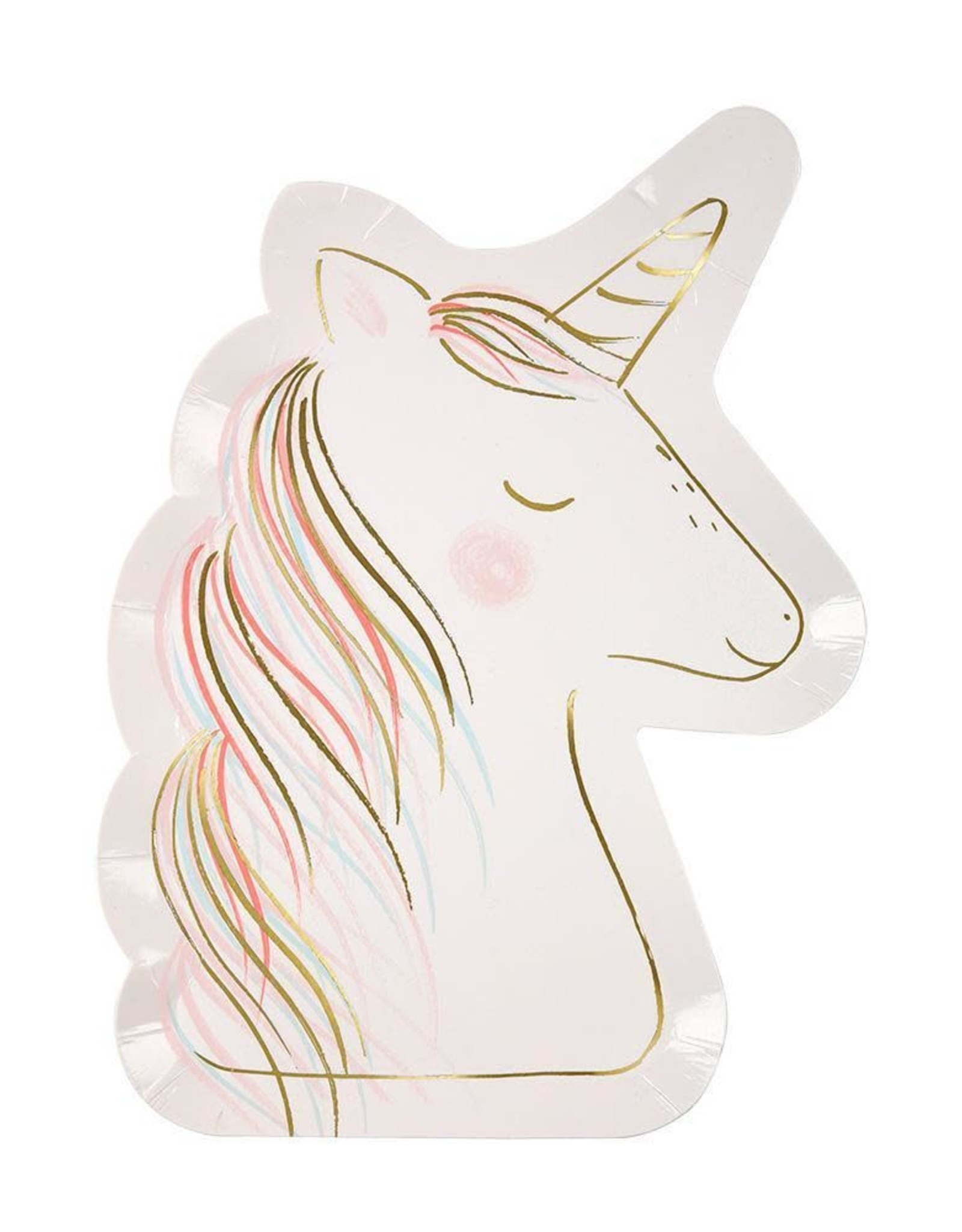 Meri Meri Pack Of Plates - Unicorn