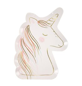 Meri Meri Pack Of Plates - Unicorn