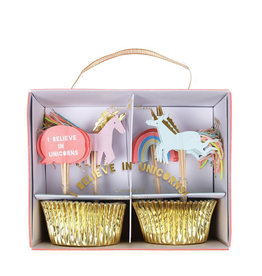 Meri Meri Ensemble à cupcake - Je crois aux licornes