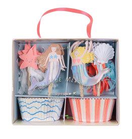 Meri Meri Cupcake Kit - Let's Be Mermaids
