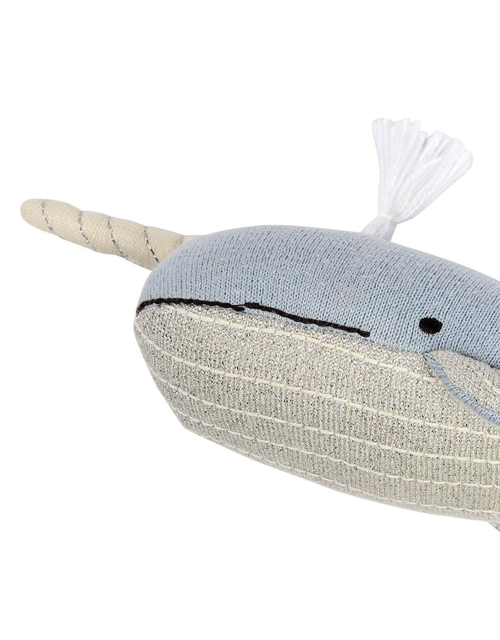 Meri Meri Knitted Toy - Milo The narwhal