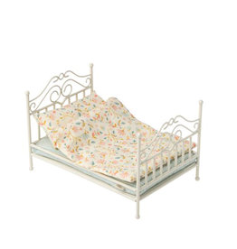 Maileg Micro Vintage Bed - Soft Sand