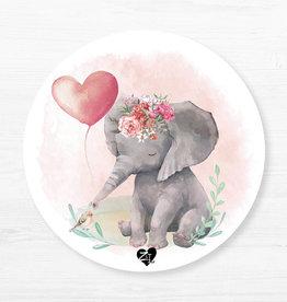 Zack et Livia Napperon rond - Éléphant rose