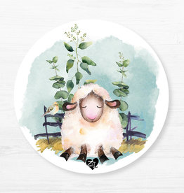 Zack et Livia Round Placemat - Sheep