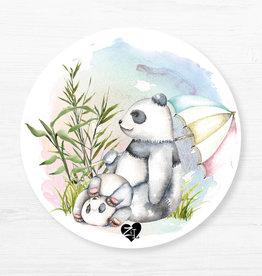 Zack et Livia Round Placemat - Panda