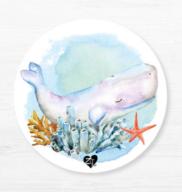 Zack et Livia Round Placemat - Whale