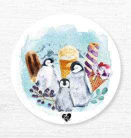Zack et Livia Round Placemat - Penguin