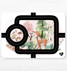 Zack et Livia Car Path Placemat - Deer