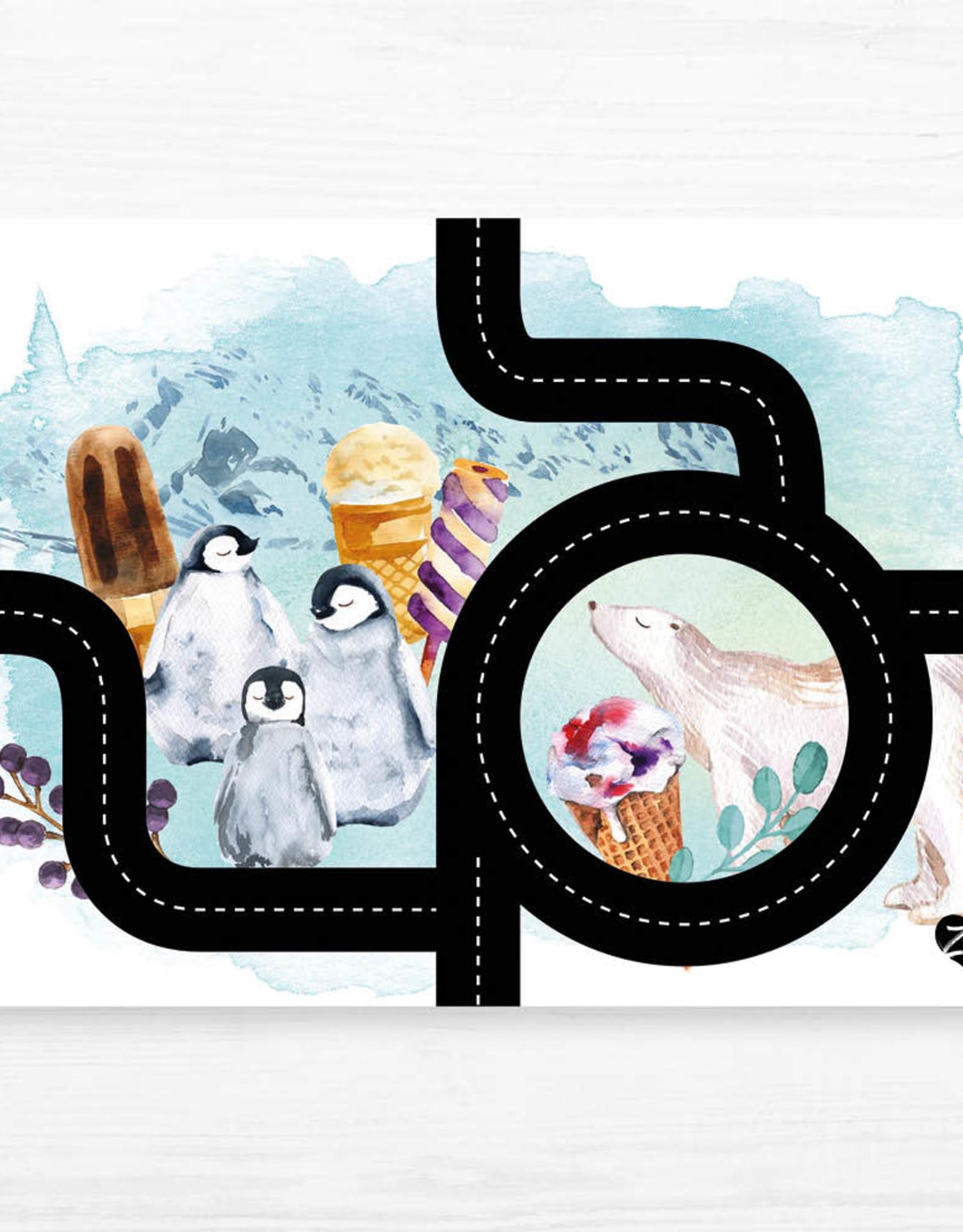 Zack et Livia Car Path Placemat - Penguin