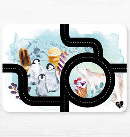 Zack et Livia Car Path Placemat - Penguin