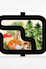 Zack et Livia Car Path Placemat - Red Fox