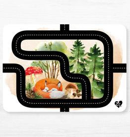 Zack et Livia Car Path Placemat - Red Fox
