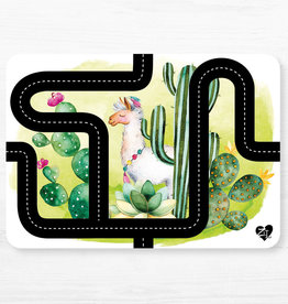 Zack et Livia Car Path Placemat - Llama