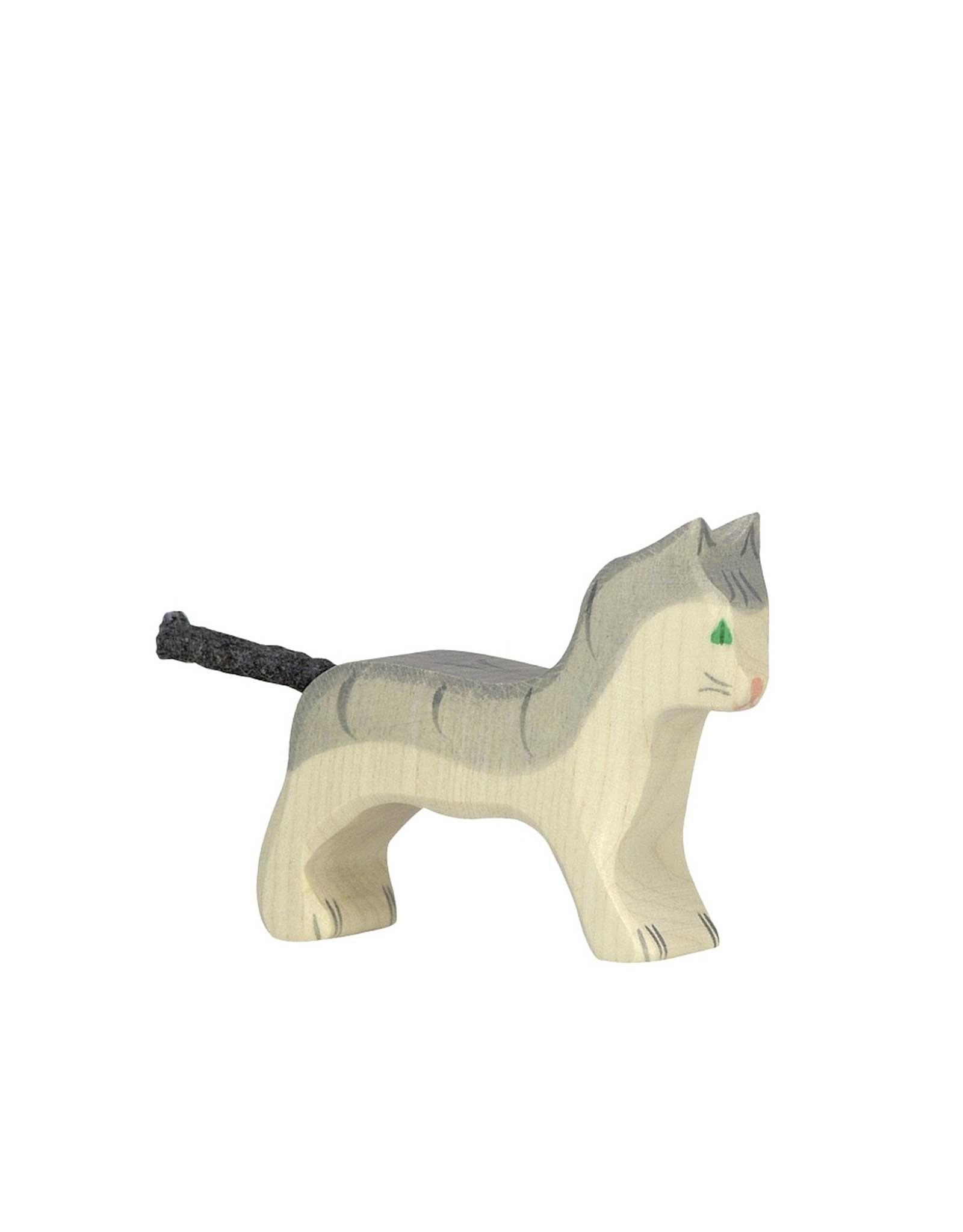 Holztiger Animal en bois - Chat gris