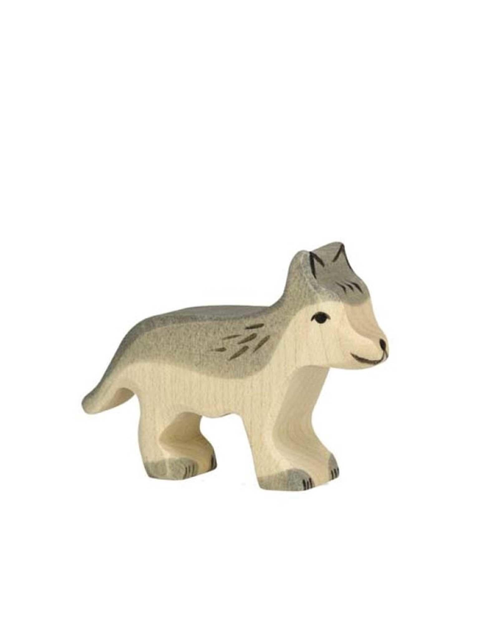 Holztiger Animal en bois - Louveteau