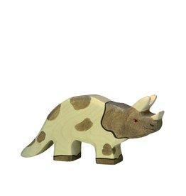 Holztiger Dinosaure en bois - Tricératops