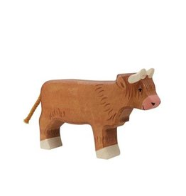 Holztiger Animal en bois - Vache highland
